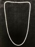 925 Sterling Silver 24 Rolo Chain Necklace, 22.31g