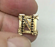 Antique Nu Sigma Nu Fraternity Pin -14k Seed Pearls And Garnets 1900- Medical Frat