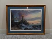 Thomas Kinkade Signed Rock Of Salvation Limited Edition Print S/n 360/1000 G/p
