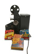 Lindstrom 16mm Movie Film Projector - Rare Motorized Version 1660 With Movies