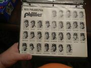 Rare 1973 Philadelphia Phillies Schedule Mike Schmidt Rookie Photo Roster Sheet+