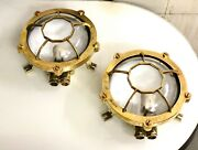 Nautical Old Antique Ship Brass Ceiling Deck Lights - For Christmas Party Lot 2