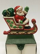 Midwest Of Cannon Falls Santa In Sleigh Cast Iron Stocking Holder