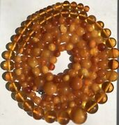 167g Old Ussr Amber Beads Necklace