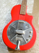 National Reso-phonic Guitars Resonator Red With Hard Case Fedex From Japan