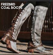 Freebird By Steven Coal Ice Boot Nib Size Size 8 Rare Msrp 350.