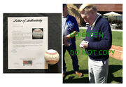 Vin Scully Signed Baseball La Dodgers Oml Official Rawlings Ball Photo Psa Dna