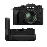 Fuji Fujifilm X-t4 Camera With 18-55mm Lens Black W/ Vg-xt4 Battery Grip