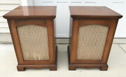 Calrad Cr-12x Coaxial Speakers In Brazilian Wood Cabinets Ship Drivers Only