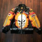 Vanson Leathers X Supreme 2019ss Ghost Rider Men's Jacket Size M F/s From Jpn