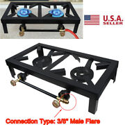 Portable Double Burner Gas Propane Cooker Outdoor Camping Picnic Stove Bbq Grill