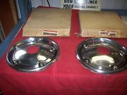 1960and039s 1970and039s Nos Chevy Gmc Truck Accessory 4wd 15 Inch Full Front Hubcaps Pair