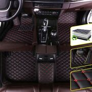Floor Mats For Hummer 2008 H3 Waterproof Non-slip Automotive 1 Set Black And Red