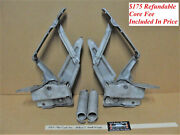 1959 - 1960 Cadillac Rebuilt Hood Hinges With New Rivets - Left And Right