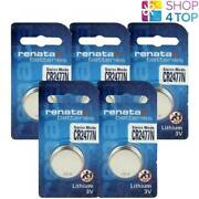 5 Renata Cr2477n Lithium Batteries 3v Cell Coin Button Swiss Made Exp 2027 New