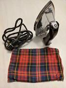 Vintage Kenmore Folding Electric Travel Iron No. 305-6262 With Cord And Bag