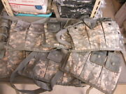 Lot Of 3, 6 Magazine Bandoleer Pouch, Molle Ii Mags Army Acu Mag Pouch Vgc
