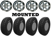 Kit 4 Tensor Dsr33 Tires 33x10-15 On Itp Ss212 Machined Wheels Fxt