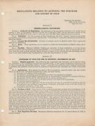 April 29 1933 Original Doc Purchase And Export Of Gold From The Treasury Dept.