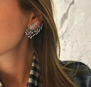 Fashionable Beautiful Top Selling Climber Drop Layered Crystal Earrings Stud