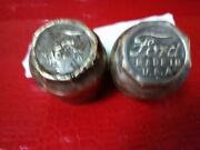 Vintage / Antique Ford Model A , Oil., Dust Brass Caps For Wheels