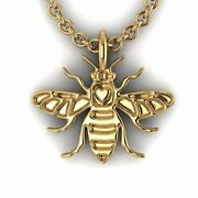 Manchester Bee Jewellery Hallmarked 9ct Yellow Gold Pendant Chain Included
