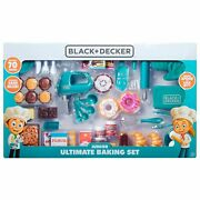 New Black And Decker Junior Ultimate Baking Set 70 Piece Food Play Dishes Kitchen