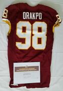 98 Brian Orakpo Of Redskins Nfl Game Worn And Unwashed Jersey Vs. Ny Giants 14011