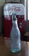 C1900's Rare Coca Cola Straight Sided Crpown Top Green Bottle Spartanburg Sc