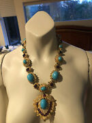 Kenneth Jay Lane Womens 22 K Goldplated And Multi- Stone Pendant Necklace