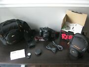 Canon Eos Rebel T2i Ef-s 18-55 Is Ii Kit In Box And 2 New Cases And Remote / New