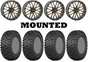 Kit 4 Itp Terra Claw Tires 27x9-14 On System 3 St-3 Bronze Wheels Ter