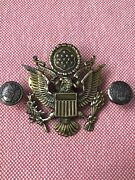 Wwii Ww2 Us Army And Air Force Officers Eagle Visor Cap Badge Buttons