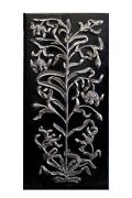 Vintage Handcrafted Wall Panel Hanging Wood Silver Hand Carved Home Decor Art