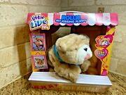 New Little Live Pets My Kissing Puppy Rollie Plush Fuzzy Brown Dog 25+ Sounds