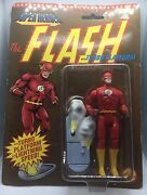 D.c. Comics Super Heroes Gift - Flash W/turbo Platform 1991 In Pckg Toybiz 4441