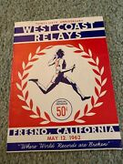 1962 West Coast Relays Track And Field Program Usc Ucla Fresno State Stanford