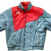 Vintage Russia Ussr Cccp Snow Pants And Jacket Hammer Sickle Soviet 2 Piece