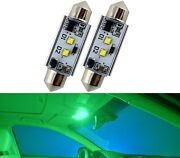 Led Light Canbus Error Free 578 6w Green Two Bulb Interior Dome Replace Upgrade