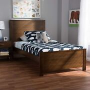 Baxton Studio Catalina Mission Style Brown-finished Wood Twin Platform Bed New