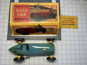 Deluxe Scale Model Race Car, Rex Mays Blue No. 4, Wind-up, Vintage With Box