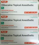 Rugby Dibucaine Topical Anesthetic 1 Hemorrhoidal Ointment -3 Pack -exp 09-2022