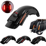 Motorcycle Cvo Style Rear Fender W/ Led Lights For Harley Davidson Touring 09-13