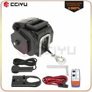 Portable Electric Winch 3500 Lb 12 Volt Remote Towing Hitch Truck Trailer Boat