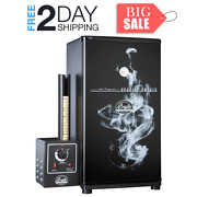 Electric Food Meat Smoker Outdoor Cooking Tools Stainless Steel One Size Black