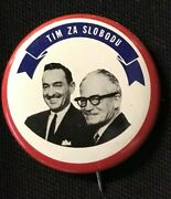 Barry Goldwater Serbian Political Campaign Pinback Button 1.25 - Jh249