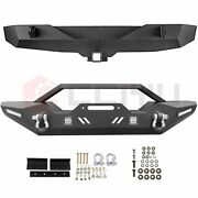 For Jeep Wrangler Jk 2007-2018 Front Rear Bumper Combo Complete Protector Steel