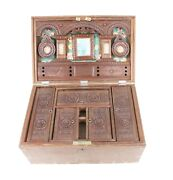 Vintage Handcrafted Unique Make Up Box Case Box Rare Wooden Indian Collectible