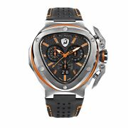 Tonino Lamborghini Spyder X Menand039s Chronograph Watch Date Steel Orange