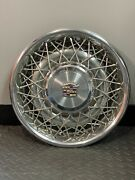 16in Wirespoke Cadillac Hubcaps Set Of 4